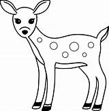 Deer Coloring Awesome Spotted Wecoloringpage sketch template