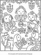 Coloring Pages Tea Princess Adult Sheets Dover Publications Cook Doverpublications Monica Colouring Birthday Crafts Adults Parties Drawing Wellington Hundertwasser Children sketch template