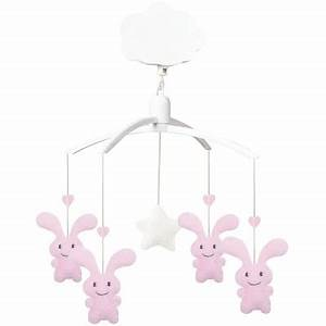 Mobile Musical Rose : mobile musical funny bunny rose par trousselier ~ Teatrodelosmanantiales.com Idées de Décoration