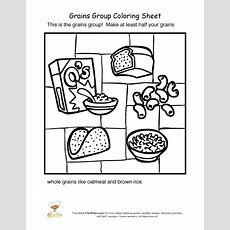 Grains Food Group Coloring Sheet