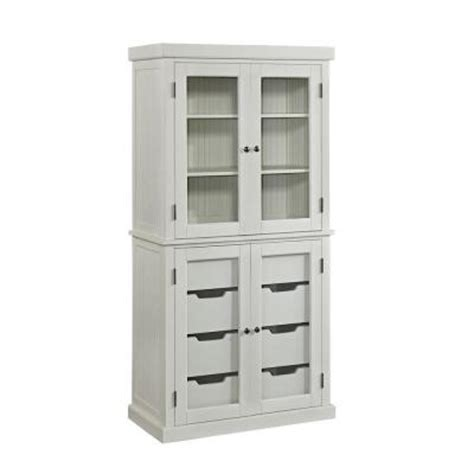 Home Styles Nantucket Hardwood China Pantry In Distressed
