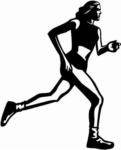 Track Running Field Runner Clipart Drawing Run