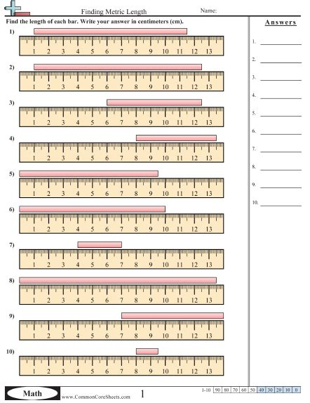 Measurement Worksheets  Free Commoncoresheets