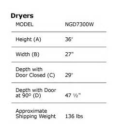 Clothes Washer Dimensions Chart Amazon Com Amana 6 7 Cubic Foot Super Capacity Gas Dryer
