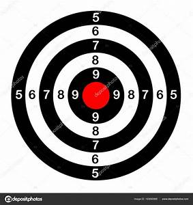 Classical target for shooting, sport, vector — Stock ...
