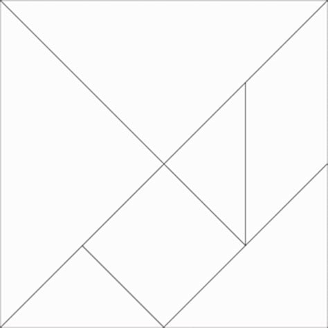 tangram template tangram pattern white with solid lines clipart etc