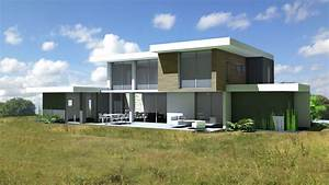 Plan maison en pente 8 villa darchitecte contemporaine for Plan maison en pente 8 villa darchitecte contemporaine avec casquettes et porte