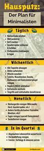 Wohnung Sauber Halten : hausputz der putzplan f r minimalisten infografik kraftpuls ~ Frokenaadalensverden.com Haus und Dekorationen