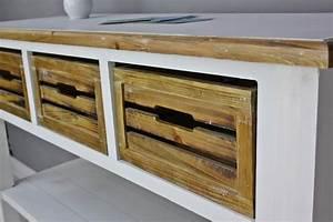 Sideboard Weiß Braun : konsole sideboard wei braun massiv holz ~ Whattoseeinmadrid.com Haus und Dekorationen