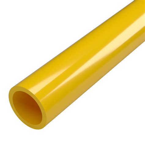 formufit 1 in 5 ft furniture grade 40 pvc pipe in yellow p001fgp ye 5 the home depot