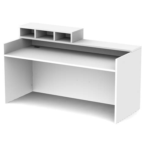 white reception desk modern white reception desk atwork office furniture canada