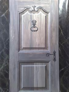 Peinture Effet Bois Flotté : peinture en trompe l 39 oeil d 39 une porte ~ Dailycaller-alerts.com Idées de Décoration
