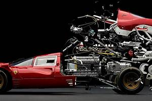 Exploding photographs of classic sports cars by Fabian Oefner.