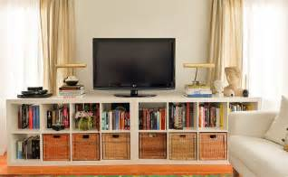 Ikea Expedit Bookcase Tv Stand by Ikea Shelving Unit Tv Stand And Storage Home Decorating