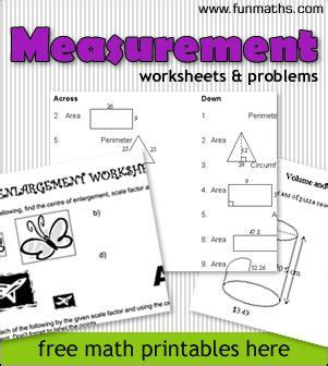 free measurement geometry worksheets problems for highschool