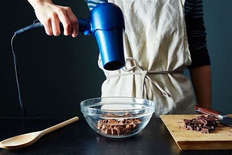 chocolate melt hair dryer way melting hacks baking hairdryer food52 obvious besides practical uses ultra water double kitchen boiler cleanest