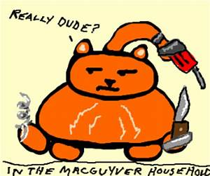 MacGyver makes swiss army knife from cat