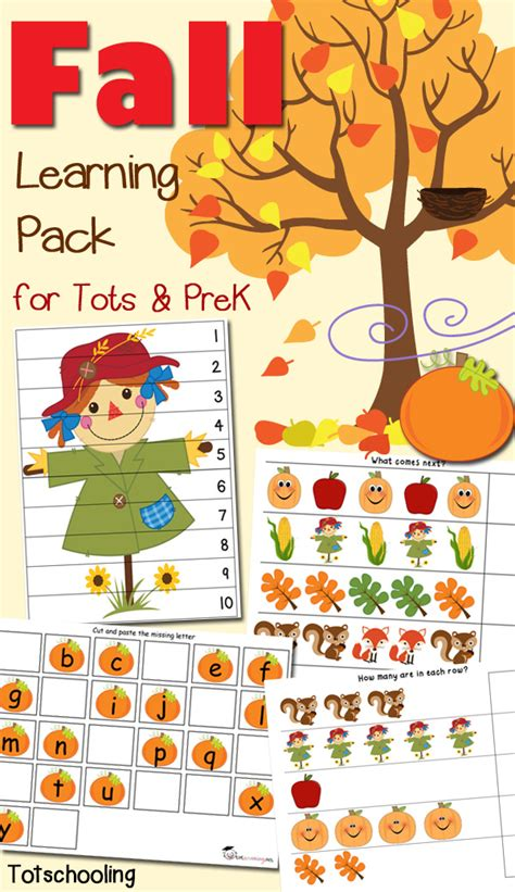 fall literacy activities for preschool fall learning pack for toddlers amp preschoolers 937