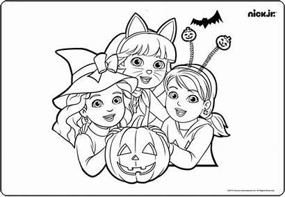 Fancy Coloring Pages Halloween Nick Dora Jr