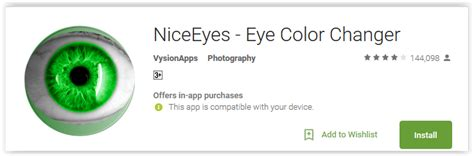 niceeyes eye color changer best eye color changer apps for android