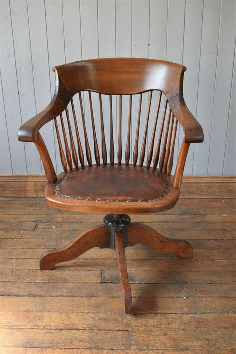 antique wooden swivel desk chair antique vintage wooden captain s swivel office desk chair
