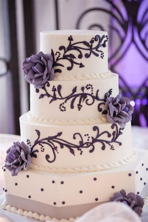 Purple And Grey Wedding Cake Wedding Cake Inspiration