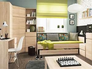 Aménagement Petite Chambre : meuble de chambre ado cool meuble de chambre ado with ~ Melissatoandfro.com Idées de Décoration