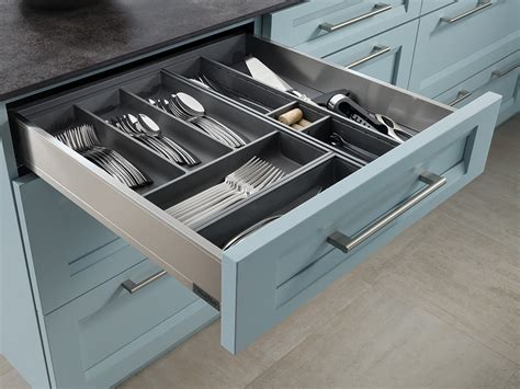 Silicone Cutlery Insert   Wood Mode   Fine Custom Cabinetry