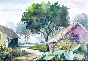 Mintu Maji Artwork: landscape | Original Watercolor ...