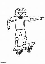 Skateboard Coloring Transportation Coloriage Imprimer Printable Skate Nouveau Dessin Kb Drawings sketch template
