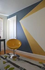 25 best ideas about geometric wall on pinterest the With peindre un couloir en 2 couleurs 9 la peinture des parties communes