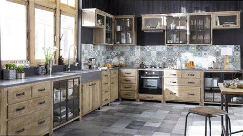 cuisine bois et metal cuisine bois cuisine bois et metal noir