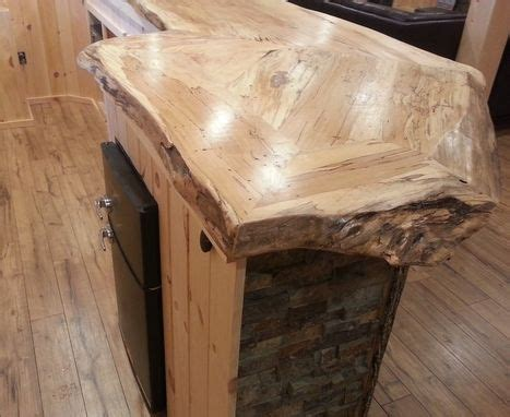 Handmade Live Edge Spalted Maple Bar Counter by D&S