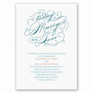 my love wedding invitation at ann39s bridal bargains With discount thermography wedding invitations