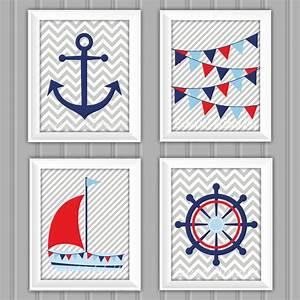 nautical wall art set nautical decor instant download With nautical wall art