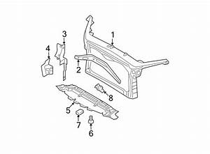 Ford Fusion Radiator Support Panel Reinforcement  Body
