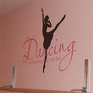 Ballet Ballerina Dance Dreaming Feet Vinyl Wall Sticker