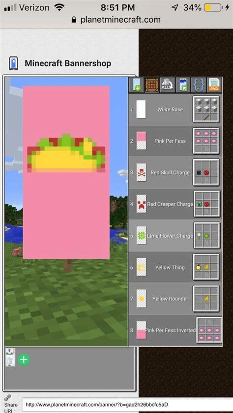 taco banner minecraft banner designs minecraft minecraft projects