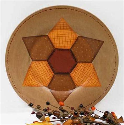 wood star quilt pattern plate decorative plates  bowls primitive decor