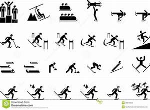 Winter Olympic Sports stock vector. Illustration of ...