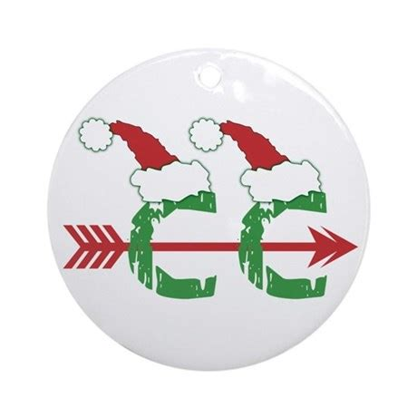 cross country christmas ornament round by biskerville