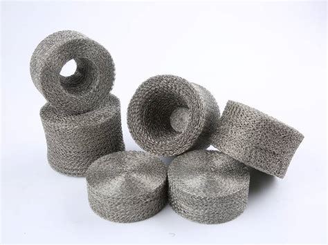 compressed knitted mesh   filtering shielding sealing