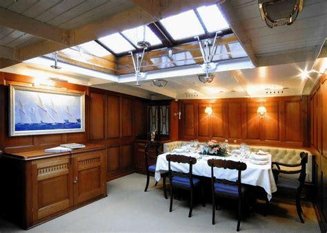 sailing yacht lulworths beautiful classic interior