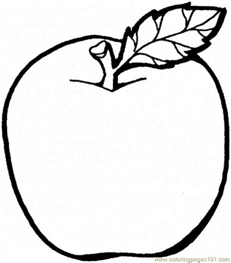 coloring pages apple  food fruits apples