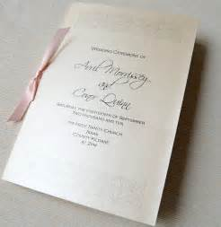 church wedding programs unique wedding invitations ceremony booklet