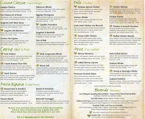 olive garden dinner menu olive garden becausei mhungry gtcc menu design