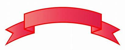 Ribbon Banner Clipart Blank Banners Photoshop Ribbons