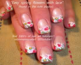 Robin moses nail art french lace nails floral