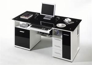 Schreibtisch Glas Schwarz : schreibtisch home office weiss glas schwarz ebay ~ Whattoseeinmadrid.com Haus und Dekorationen