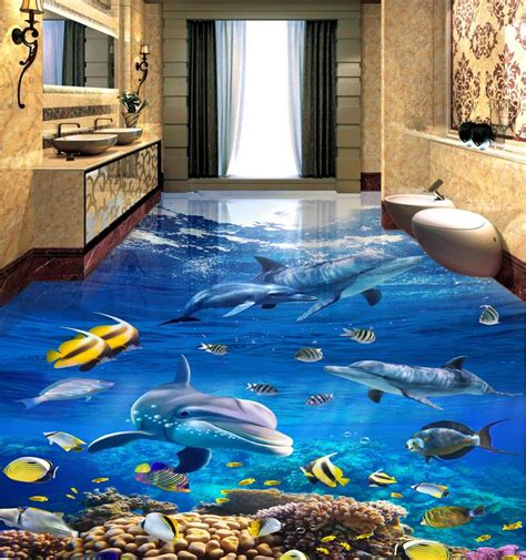 tile flooring bathroom photo wallpaper custom